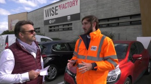 La Wise'Factory d'Angers expérimente un éclairage extérieur économique
