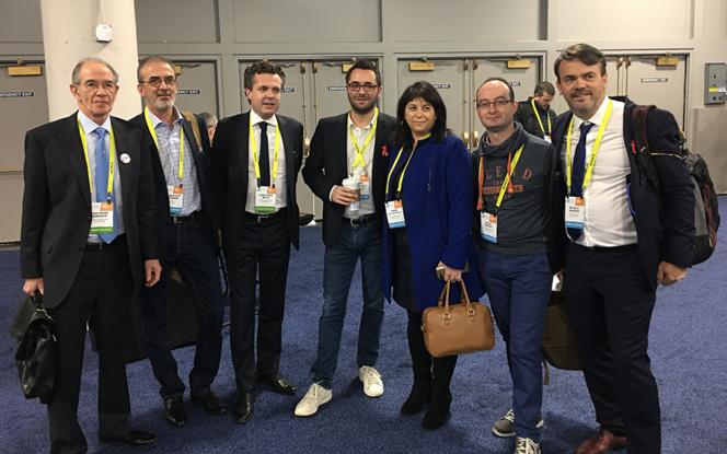 Une partie de la délégation angevine dont les membres de l'association PAVIC à l'arrivée à Las Vegas