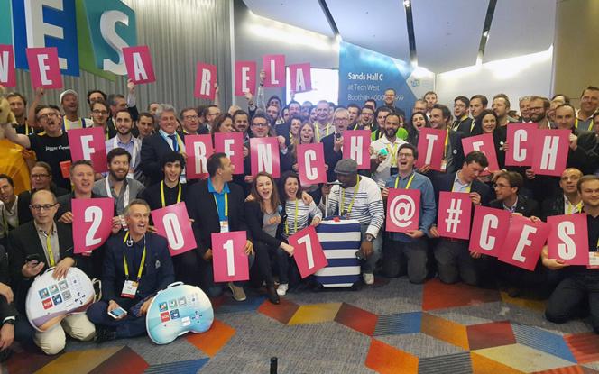 Les entreprises de la French Tech lors de l'ouverture du CES 2017