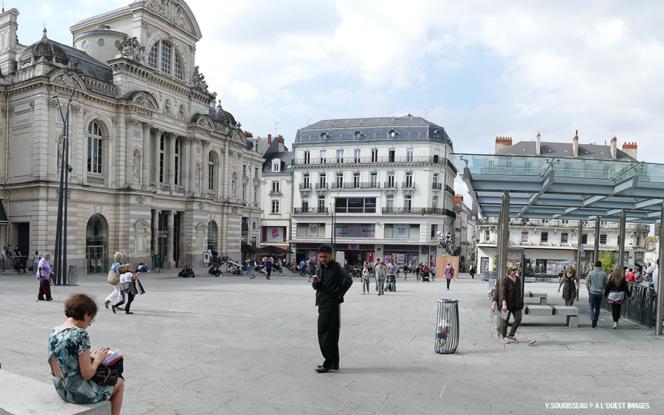La place du Ralliement, centre-ville piétonnier d'Angers