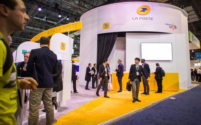 L'entrée de l'espace du groupe La Poste au dernier CES de Las Vegas (photo Groupe La Poste)