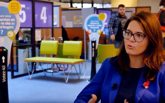 Constance Nebbula, l'élue municipale déléguée à l'économie numérique et l'innovation de la ville d'Angers (extrait vidéo Qowisio)