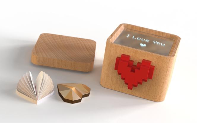 La boite à amour imaginée et réalisée par les deux jeunes entrepreneurs grenoblois
