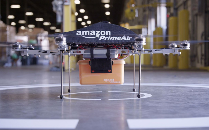 Le drone Amazon Prime Air de la société de commerce électronique (Photo Amazon)