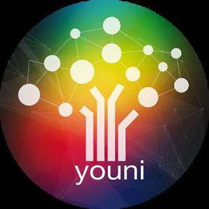 Le logo de la plateforme Youni, un arbre avec ses ramifications et ses fruits, pour illustrer la démarche Youni