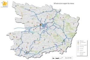 La carte du réseau Mélisa (Cliquez sur l'image pour l'agrandir)