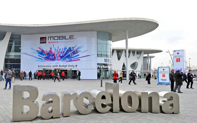 L'entrée duMobile World Congress 2017 (photo MWC)
