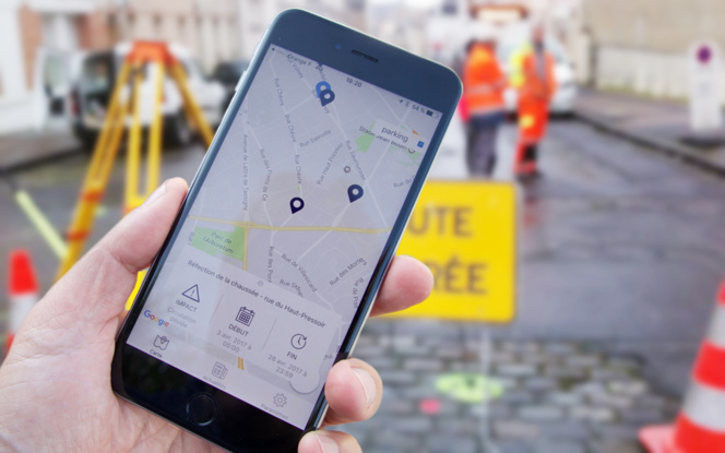 Simple et pratique, l'appli Info Travaux de la ville d'Angers (photo Y. Sourisseau)