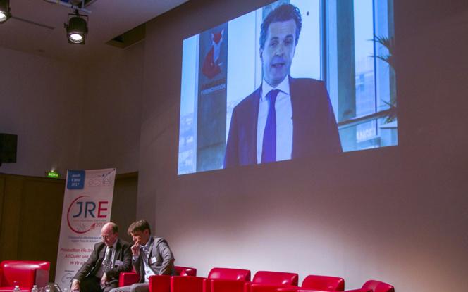 Gerard Matheron et Vincent Bedouin lors de la présentation du WEF par le sénateur-maire d'Angers Christophe Béchu