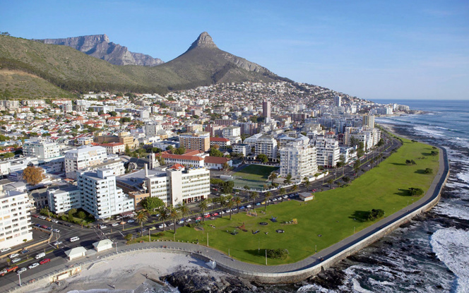 La ville sud africaine de Cap Town, un exemple en matière de gestion de l'eau ( photo www.villaocap.com )