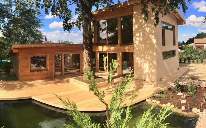 L'une des maisons Nouvel R, construite dans l'Ain (Photo Nouvel R)