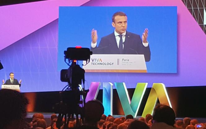 Le président Macron, lors de son intervention de jeudi (Photo Usine Nouvelle)