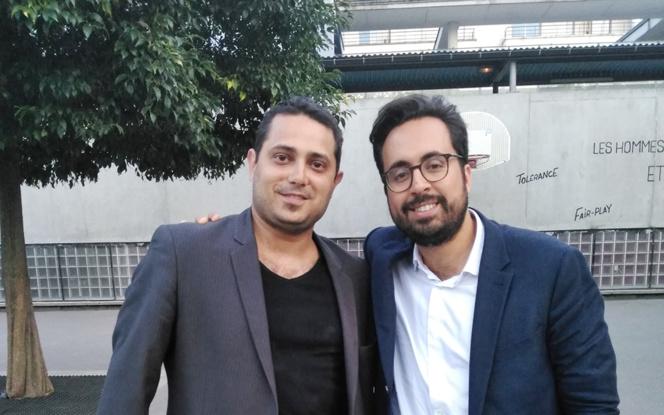 Mounir Majhoubi en compagnie de Tony Canadas, notre correspondant parisien
