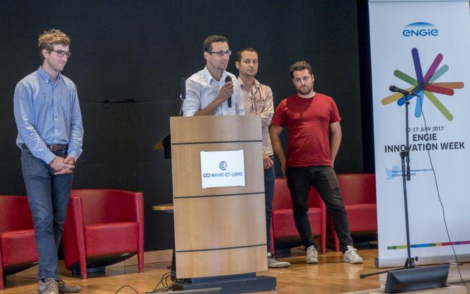 Les lauréats lors de la présentation aux participants du Workshop Pavic, le 13 juin à Angers