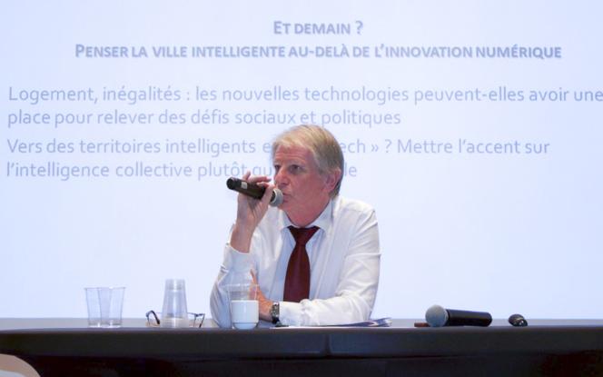 Patrick Braouezec lors du Forum sur la Smart City organisé par le magazine des collectivités La Gazette des Communes