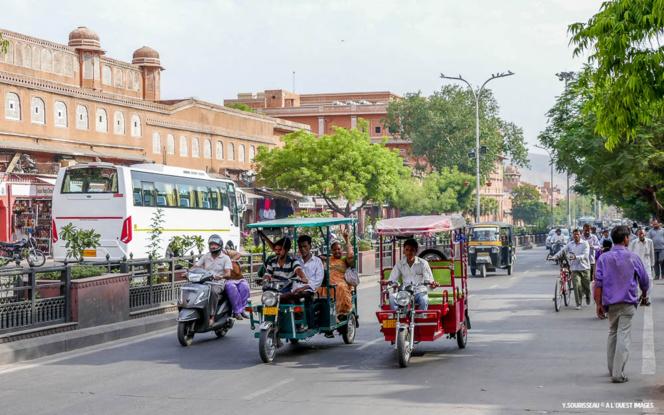 La ville rose de Jaipur, capitale du Rajasthan en avril 2016
