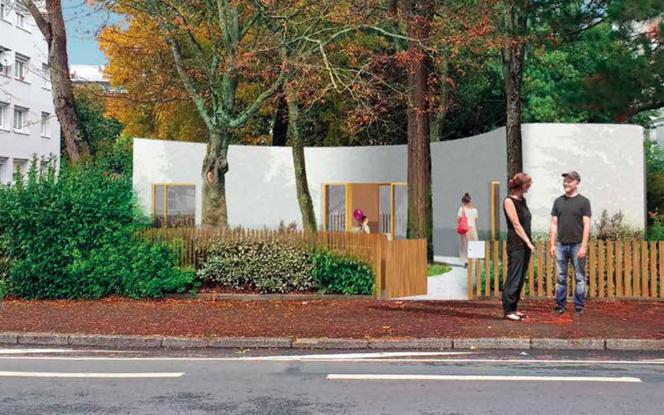 L'esquisse de la future maison industrielle par impression 3D nantaise (Illustration Ville de Nantes - Nantes Métropole)