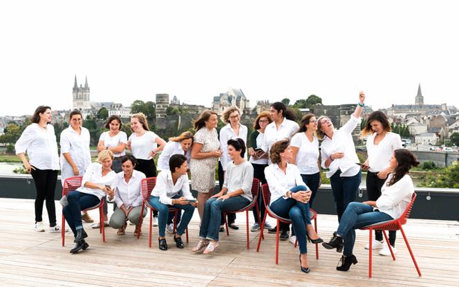 Les femmes du digital de la région d'Angers ( Photo Marie Bieber) - Cliquer sur la photo pour agrandir