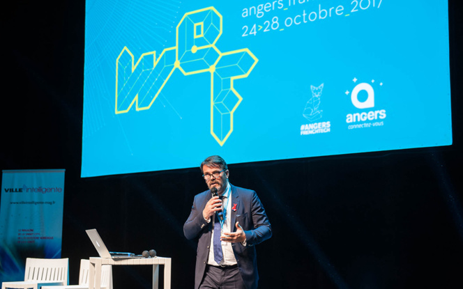 Reynald Werquin le directeur opérationnel  de PAVIC, lors de la clôture du Forum Smart City