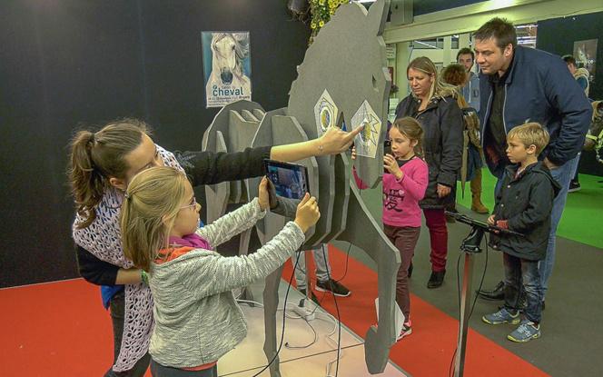 Les passionnés de chevaux, mais aussi les familles ont investi le salon du cheval et notamment dans l'espace numérique
