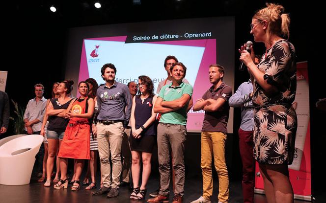 Les candidats de la 3eme année, lors de la soirée de clôture de juin 2017 (Photo Angers Technopole)