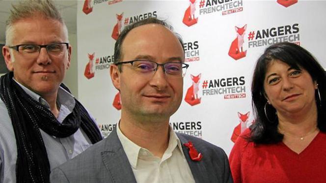 De gauche à droite, Yannick Bourdin, Michel Perrinet et Corinne Busson-Benhamou, la Fox Team d'Angers French Tech (Photo Angers Maville)