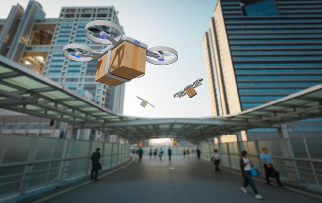 Quand les drones d'Amazon circuleront dans le ciel de Paris ... (Photo Daily Geek Show)