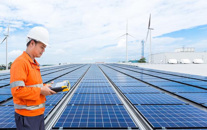 De plus en plus de fermes solaires voient le jour dans le monde, mais en France c'est insuffisant (photo Adobe Stock)