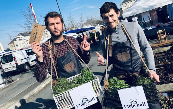 Victor Flomont et Sébastien Moreau, les néo-agriculteurs de la ferme urbaine Utopi'hall
