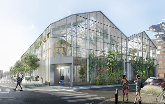 Le futur Food Hall de Nantes (photo Groupe Chessé)