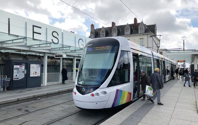 Le tramway d'Angers, dont la seconde ligne est actuellement en cours de chantier