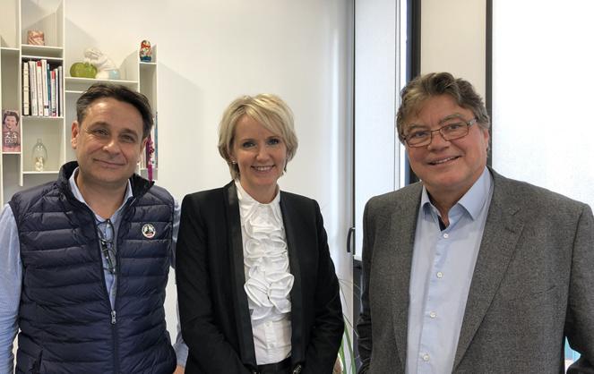 De gauche à droite : Mickaël ESNAULT (Inwest Group), Lenaïck LE GRACIET (Galiléa) et Denis LAMBOLEY (Wellness Managment)