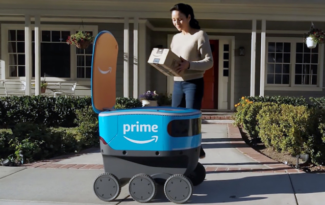 SCOUT, le robot livreur d'Amazon est en cours de test aux USA (Photo Amazon)