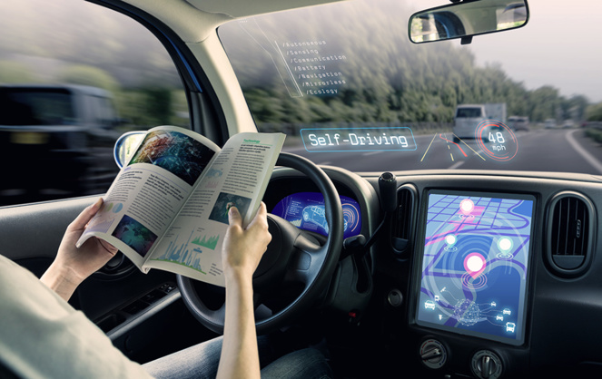 La voiture autonome c'est possible techniquement, mais des freins demeurent (photo Adobe Stock)