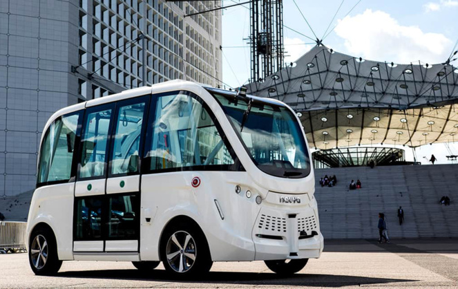 Les navettes Autonom® Shuttles peuvent transporter 15 personnes, en totale autonomie, sans pilote à bord (Photo Navya)