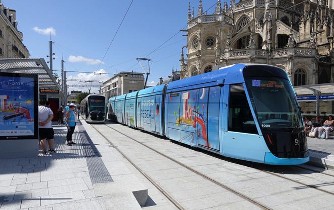Le nouveau tram de Caen la Mer, mis en service le 27 juillet dernier (photo ErebosSan)