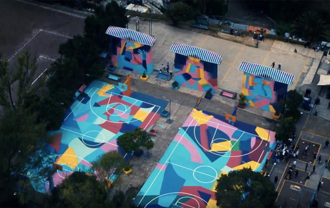 ENGIE X Heliatek à Mexico City, Mexique : réfection, entretien et éclairage de terrains de sport sécurisant l'espace et leur conférant à nouveau un rôle d'animation au sein du quartier (extrait vidéo Engie)