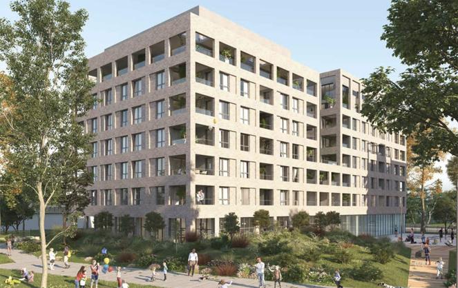 Un des ensembles immobiliers prévus sur le square Saint Louis (Faye Architectes et Nadau Architecture)