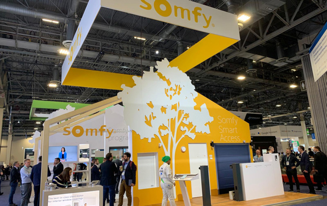 Le stand Somfy au Consumer Electronics Show