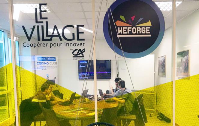 Une salle de réunion à WeForge (Photo WeForge)