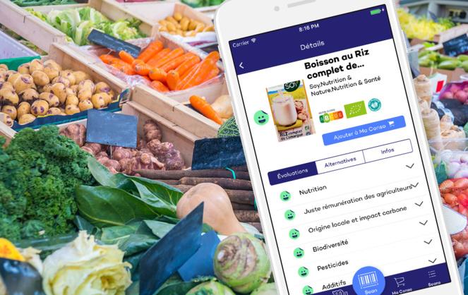 Grace à sa grille d'évaluation, l'application propose les produits qui correspondent aux souhaits des consommateurs.