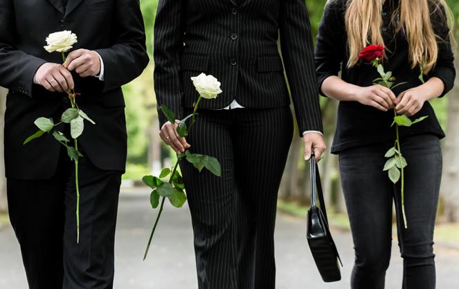 Pendant la période de confinement seuls les très proches peuvent assister aux obsèques d'un défunt (photo Adobe Stock)