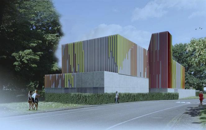 Esquisse de la centrale de production de chaleur de l'Université de Pau (Photo Sas Camborde Architectes)