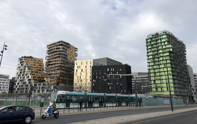 Quartier rénové au sud-ouest de Paris (photo A l'Ouest Images)