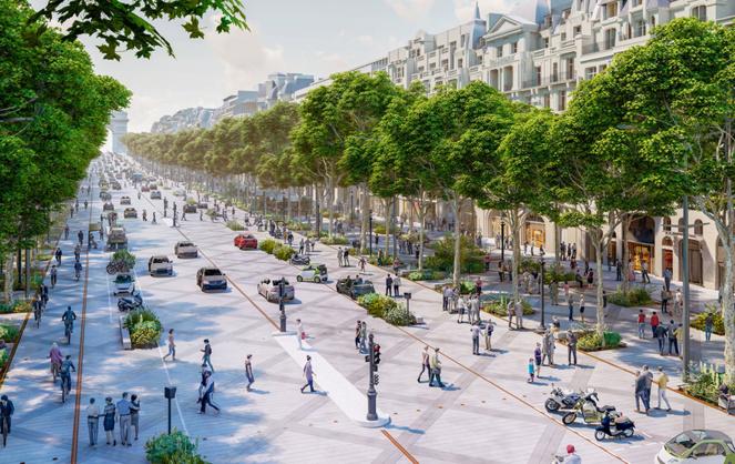 projet d'aménagement des Champs-Élysées (Perspective © PCA-STREAM)