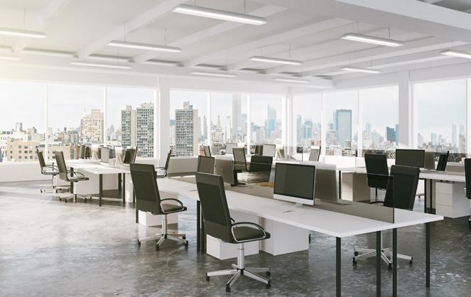 Des bureaux pendant la période de confinement (Photo Adobe Stock)