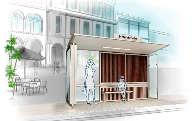 L'abri fraîcheur naturelle de JCDecaux (illustration JCD)