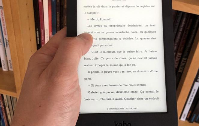 Un moyen de lire en tous lieux, sans emmener sa bibliothèque (Photo Pinterest - Les numériques)