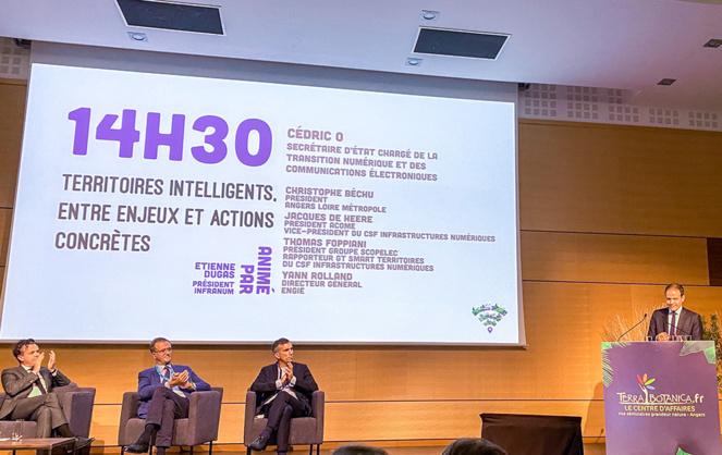 Cédric O, le Secrétaire d'Etat chargé de la transition numérique, lors de son intervention devant l'écosystème numérique angevin