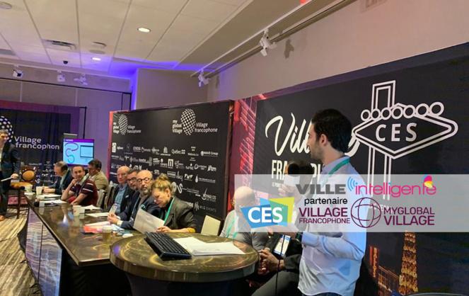 Pitch d'une startup lors du Village Francophone 2020 à Las Vegas (Photo Facebook Village Francophone)